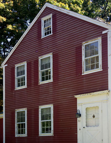 Before - Historic New England home with peeling paint