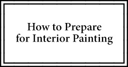 how to prepare for interior painting box