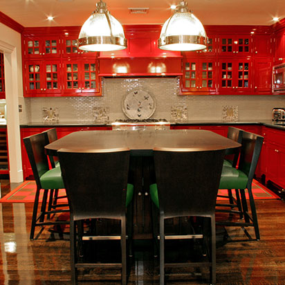 perfect red kitchen cabinets