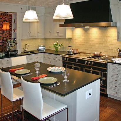 luxurious white kitchen