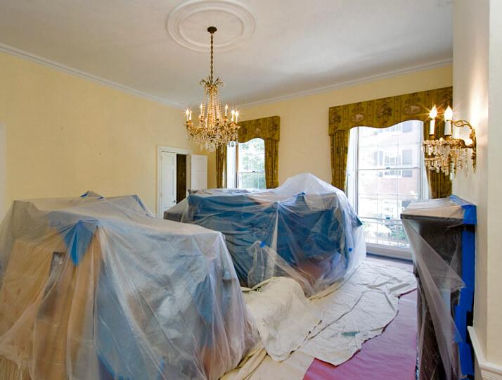 15 Chestnut Street in Boston MA Interior Progress