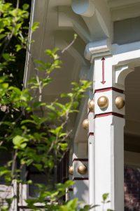 Victorian painted exterior railing