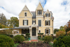 Exterior of gothic Victorian house