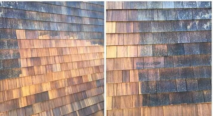 When staining cedar wood shingles, uniformity is key.